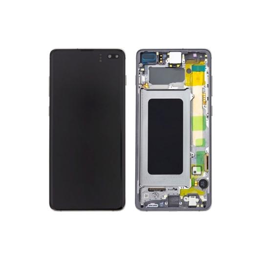 Samsung SM-G975 Galaxy S10 + / S10 Plus LCD kijelző / képernyő + érintőképernyő - prizma fekete