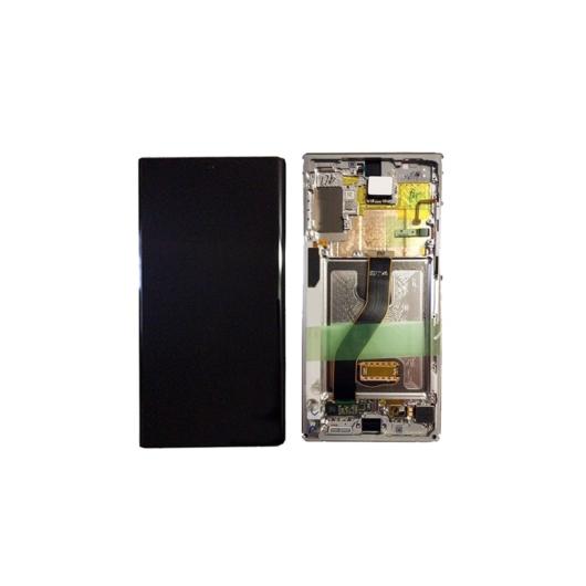 Samsung SM-N970 Galaxy Note 10 LCD kijelző / képernyő + érintőképernyő - Aura Glow / Ezüst