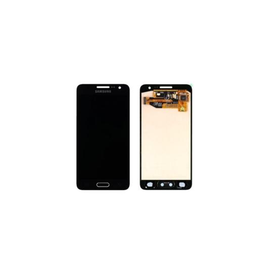 Samsung SM-A300 Galaxy A3 LCD kijelző / képernyő + érintőképernyő - fekete